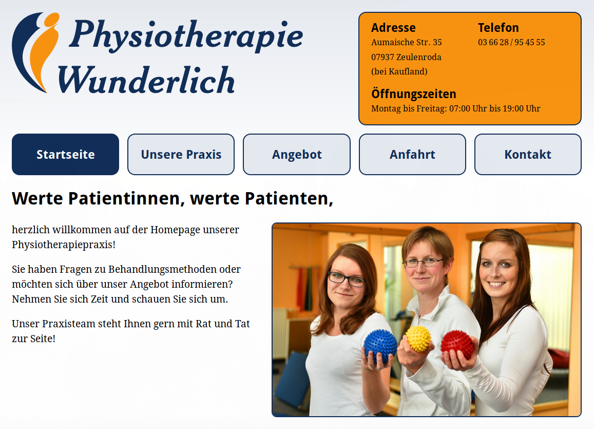 Preview wunderlich-physiotherapie.de